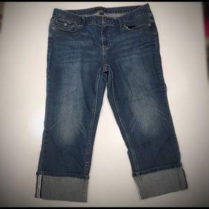 Banana Republic Jeans Cropped Cuff Denim Capri